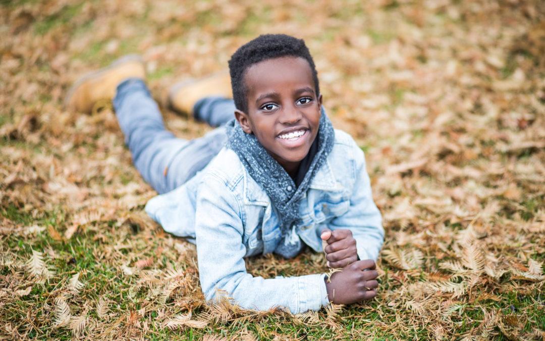 Børnefotografering i efteråret